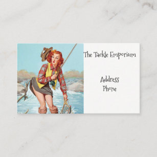 Pinup business cards zazzle au fishing pinup business card colourmoves