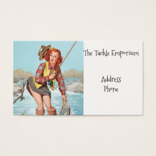 Pinup business cards business card printing zazzle fishing pinup business card colourmoves Choice Image