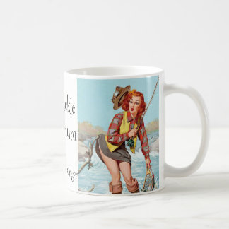 Fishing Pinup Coffee Mug