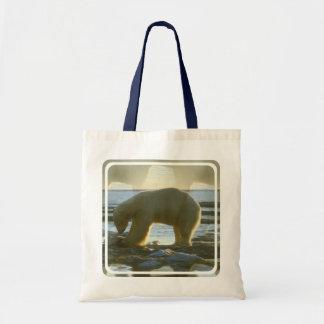 Fishing Polar Bear Canvas Bag