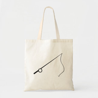 Fishing Pole Tote Bags