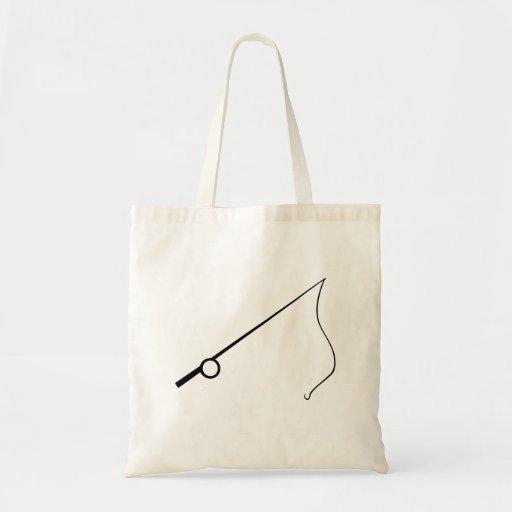 Fishing Pole Tote Bags