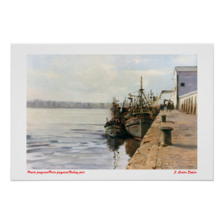 Fishing port/fishing Porto/Fishing port Poster