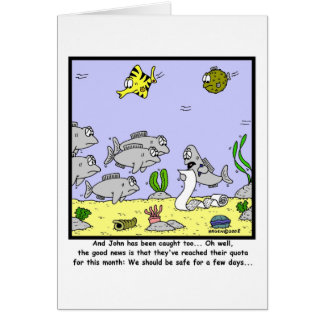 Fishing Quota: Fish cartoon Card