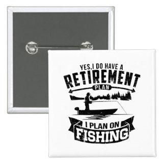 Fishing Retirement 15 Cm Square Badge