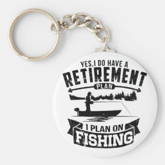 Fishing Retirement Key Ring