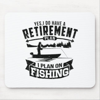 Fishing Retirement Mouse Pad