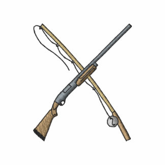 Fishing Rod and Shotgun
