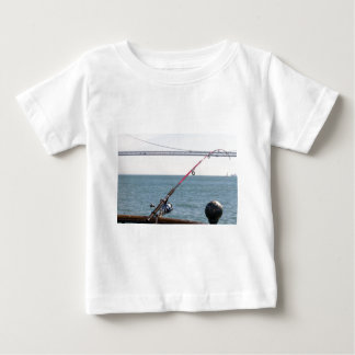Fishing Rod on the Pier in San Francisco Bay Baby T-Shirt