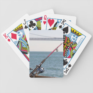 Fishing Rod on the Pier in San Francisco Bay Bicycle Playing Cards