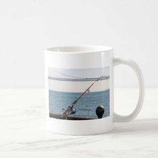 Fishing Rod on the Pier in San Francisco Bay Coffee Mug