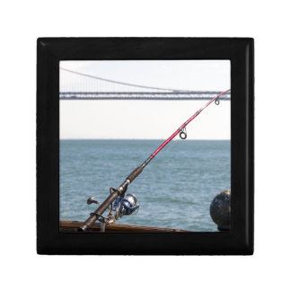 Fishing Rod on the Pier in San Francisco Bay Gift Box