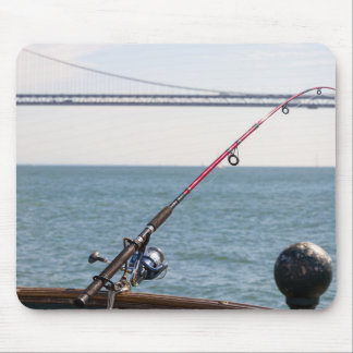 Fishing Rod on the Pier in San Francisco Bay Mouse Pad