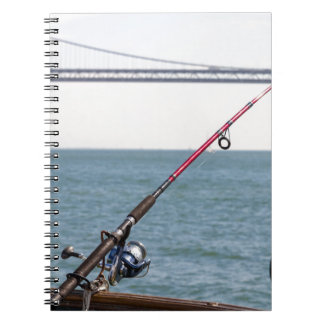 Fishing Rod on the Pier in San Francisco Bay Notebook