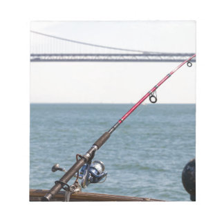 Fishing Rod on the Pier in San Francisco Bay Notepad