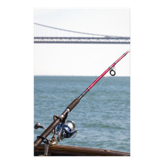 Fishing Rod on the Pier in San Francisco Bay Stationery