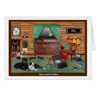 Fishing Room Birthday Card