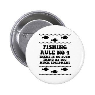 Fishing Rule No 4 6 Cm Round Badge