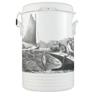 Fishing Sailboat Tuna Ocean Blue Fin Igloo Cooler