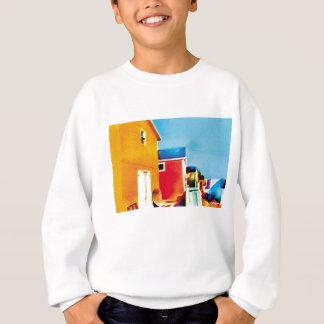 Fishing Shacks Painting Sweatshirt