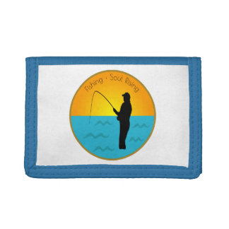Fishing Soul Rising Trifold Wallets