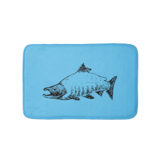Fishing store bath mat