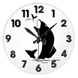 Fishing store large clock