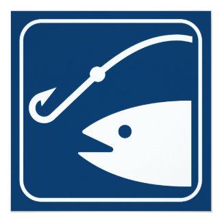 Fishing Symbol Invitation