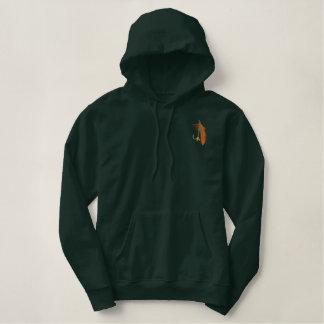 Fishing Tale Embroidered Hooded Sweatshirts