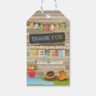Fishing thank you favor gift tag Gone fishing