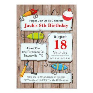 Fishing Theme Party Invitation