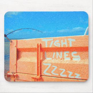 Fishing tight lines zz blue orange sky fishing rod mouse pad