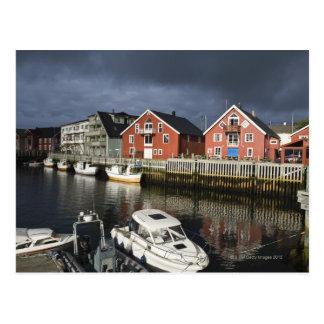 Fishing village Henningsvaer, off season, Postcard