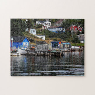 Fishing Village In Newfoundland Jigsaw Puzzle