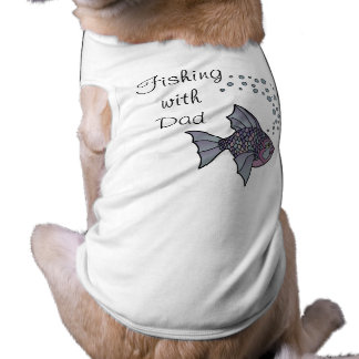 Fishing with Dad Sleeveless Dog Shirt