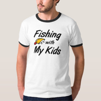 Fishing with My Kids Angling Dad T-shirts