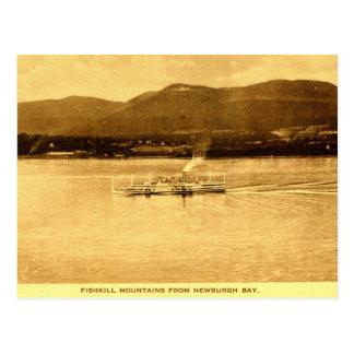 Fishkill Mountains, Newburgh Bay, New York c1915 v Postcard