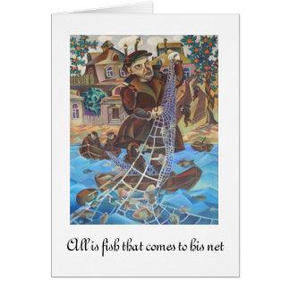 Fishman original painting Card