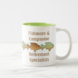 Fishmore & Campsome, retirement mug
