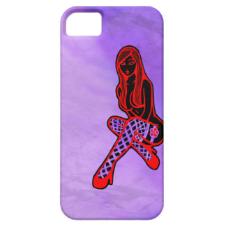Fishnets and Flower Pin-Up (Purple Haze) Case For The iPhone 5