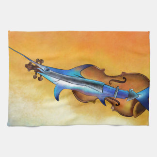 Fisholin V1 - instrumental fish Tea Towel