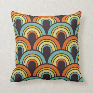 Fishscale pattern decorative pillow