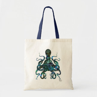 Fishy Blue Octopus Budget Tote Bag