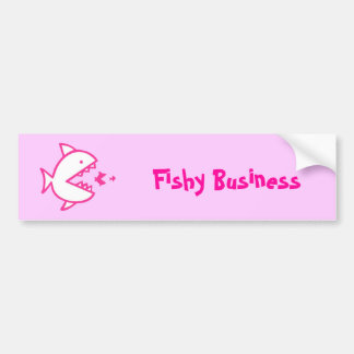 Fishy Business - Pink Bumper Sticker