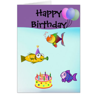 Fishy Card, Standard white envelopes included Card