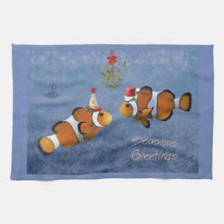 Fishy Christmas Kitchen Towel