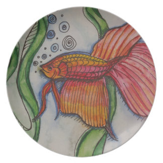 Fishy Fishy Party Plate