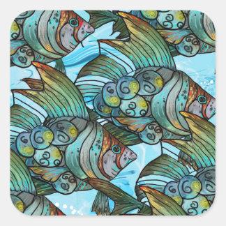 Fishy Fishy Square Sticker