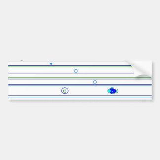 Fishy Stripes and Circles Bumper Sticker
