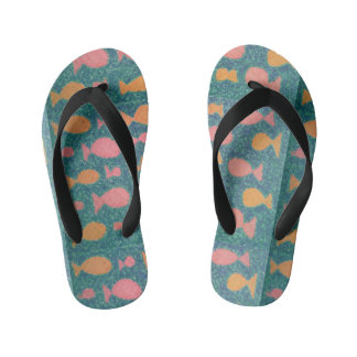 Fishy Tropical Flip Flops
